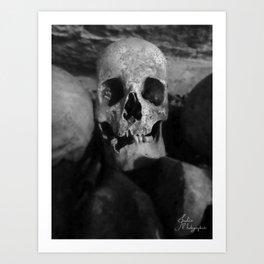 catacomb in Paris Art Print