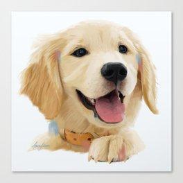 Golden Retriever Pup Canvas Print