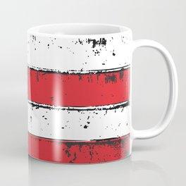 Wood Grain American Flag 4th of July with Fade Print Coffee Mug