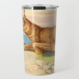 Lynx from the Quadrupeds series for A&G 1890 // Colorful Animal Painting Detailed Dots Travel Mug