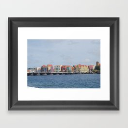 Colorful Willemstad Architecture Framed Art Print