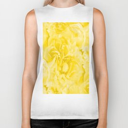 Yellow Peony Petals in Close-up #decor #society6 #buyart Biker Tank