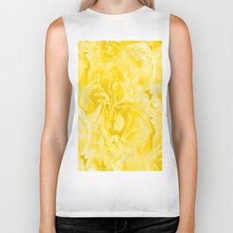 Yellow Peony Petals in Close-up #decor #society6 #buyart Biker Tank