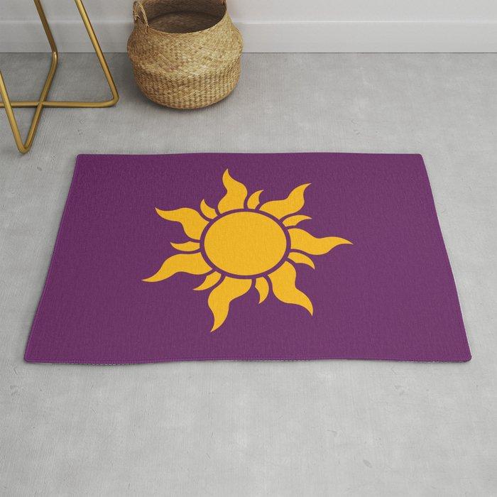 Tangled Rapunzel Sun Logo Corona Symbol Rug By Teohoble Society6