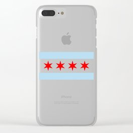 Chicago Flag Clear iPhone Case