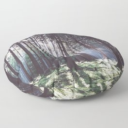 Magic forest - Landscape and Nature Photography Floor Pillow