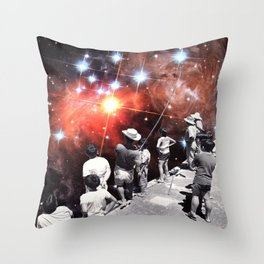 Space Rig Throw Pillow