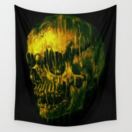 Melting Skull Wall Tapestry