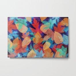 Colorful fallen leaves Metal Print