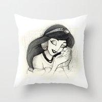 jasmine Throw Pillows featuring Jasmine by Herself