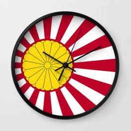 Japanese Flag And Inperial Seal Wall Clock