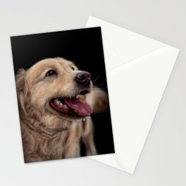 Golden Retriever Dog Painting Stationery Cards