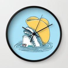 Funny Hat Shark Wall Clock