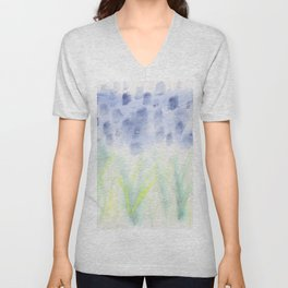 Hill Country Texas Bluebonnet Abstract Unisex V-Neck