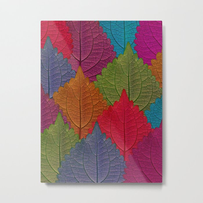 Leaves Forest Metal Print