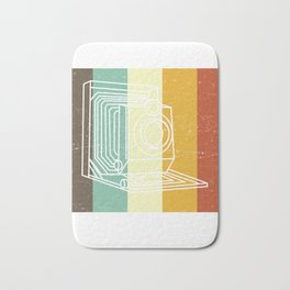 Camera Don't Be Negative Retro Colors Vintage Bath Mat