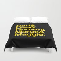 simpsons Duvet Covers featuring Simpsons by Outside In