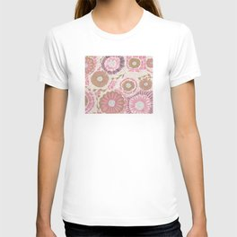Pink & Gold Flowers T-shirt