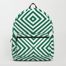 Emerald Elegant Diamond Chevron Backpack