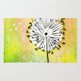 Watercolor Dandelion - Make a wish Rug