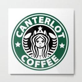 Canterlot Coffee Metal Print