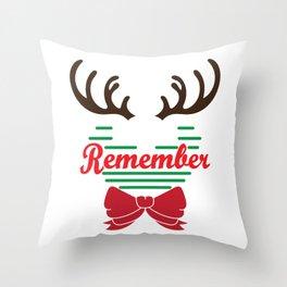 Hilarious & Joyful Xmas Tshirt Design December to remember Throw Pillow