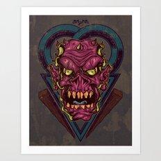 Demonesque Art Print