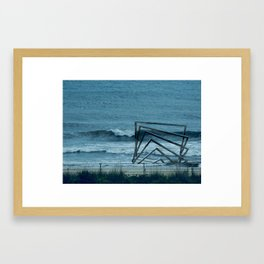 accepting life as it is: the shore Framed Art Print
