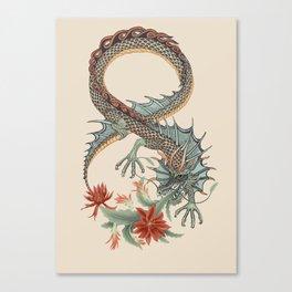 Botanical Flower Dragon 8 Canvas Print