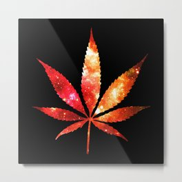 Weed : High Times orange red pink  Galaxy Metal Print
