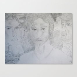 Supernatural: Season 5. Bobby Singer, Sam and Dean Winchester Canvas Print