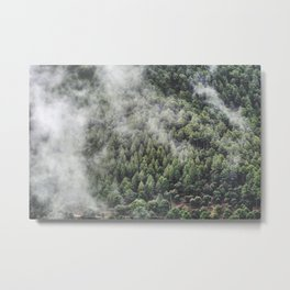 """Retro forest."" Metal Print"