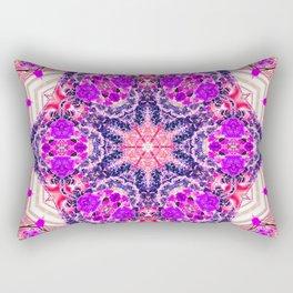 bouquet-lined bridges mandala Rectangular Pillow