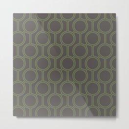 Linked Oval Pattern Metal Print
