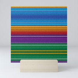 Mexican serape #3 Mini Art Print