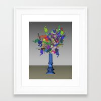 exo Framed Art Prints featuring Exo Mech by Charles Emlen