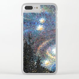 Starry Night 1 of 3 Clear iPhone Case