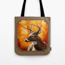 Whitetail Deer Buck Tote Bag