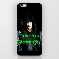 green arrow iPhone & iPod Skins featuring Arrow by SwanniePhotoArt