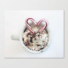 i heart hot chocolate Canvas Print