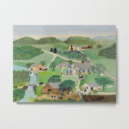 Anna Mary Robertson 'Grandma' Moses The Old Oaken Bucket American Folk Art Metal Print