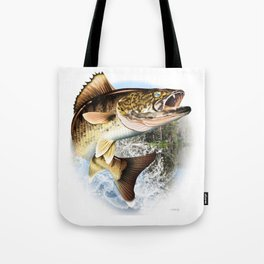 Walleye Art, Decor and Gifts Tote Bag