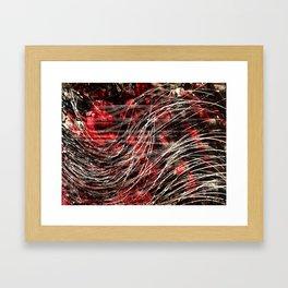 She Red Framed Art Print