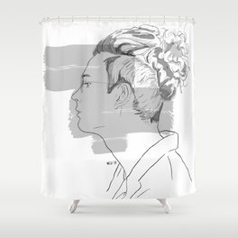 Matty Healy Drawing Shower Curtain