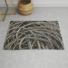 Dried branch background Rug