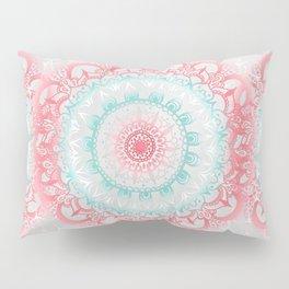 Teal & Coral Glow Medallion Pillow Sham