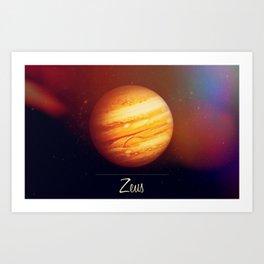 Zeus Jupiter Art Print