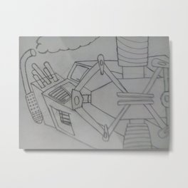 Hydraulic machine Metal Print