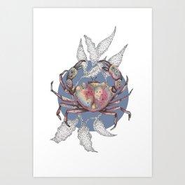inktober crab Art Print