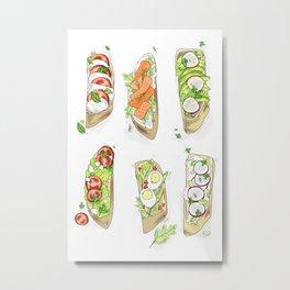 Healthy Toasts Metal Print